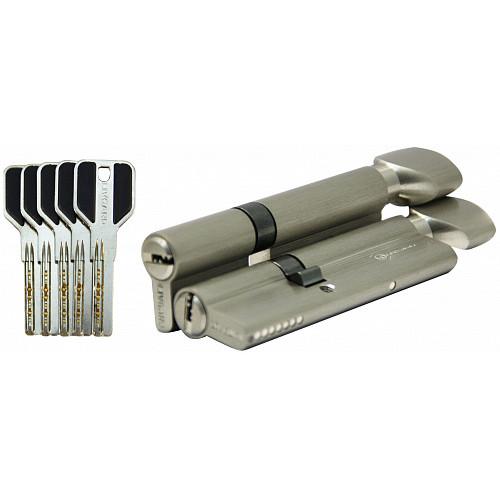 Цилиндр дверной LIVGARD CW45/55  перфо.ключ-вертушка SN Матовый никель