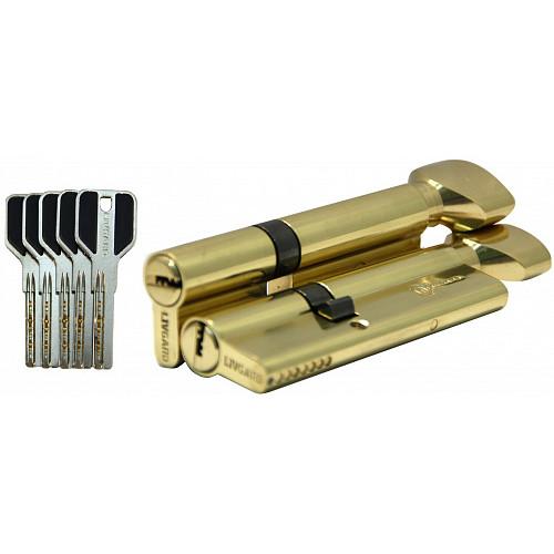 Цилиндр дверной LIVGARD CW60/40 перфо.ключ-вертушка PB Полированная латунь