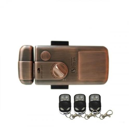 Электронный всепогодный автономный накладной замок с механическим ключом и пультом Selock Key