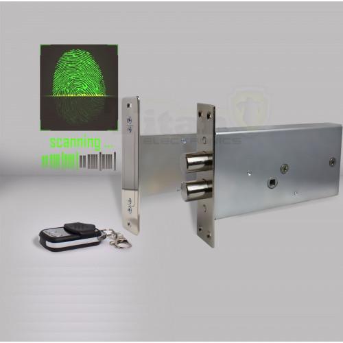 Врезной биометрический замок невидимка Титан-Battery Internal Biometric с врезным блоком управления