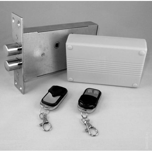 Врезной скрытый электронный замок невидимка Титан-Battery Plus с накладным блоком управления