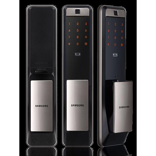 Врезной биометрический push and pull замок Samsung SHP-DP609 Silver