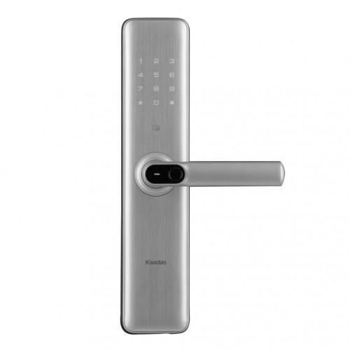 Врезной электронный дверной замок Kaadas S8 Silver с отпечатком пальца