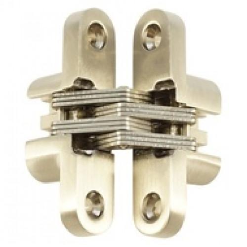 Петля скрытая  универсальная F  19*95*13mm SN Матовый никель