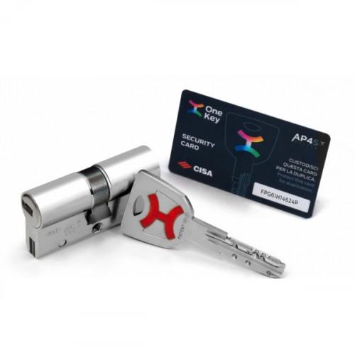 Цилиндр Cisa Ap4 S 80мм (40*40) OP3S2.28.0.12.00.C5 хром ключ-ключ