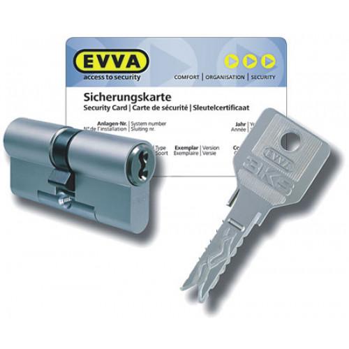 Цилиндр EVVA 3KS (107мм/41х66 В) золото, никель