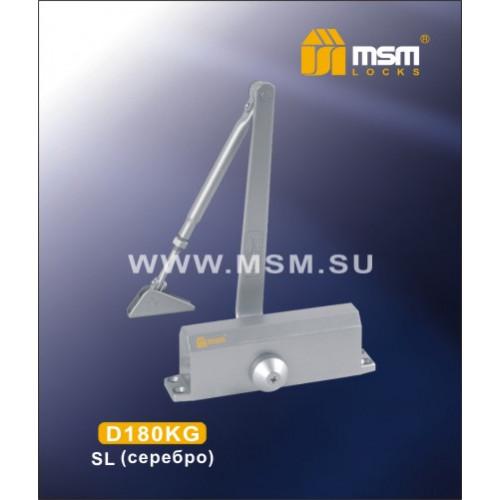 Доводчик D180KG Серебро (SL)