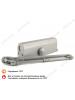 Доводчик N 5 S морозост. (до 160 кг) серый (605 grey) НОРА