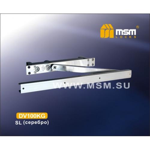 Доводчик врезной MSM DV100KG SL (серебро) со скользящей тягой, до 100кг