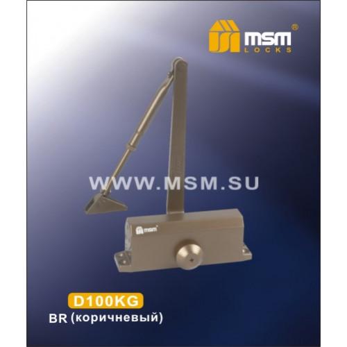 Доводчик дверной с рычагом MSM D100 KG (коричневый)