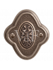 Завертка BK 73 к ручкам Амуаж и Аморе серебро античное