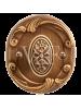 Завертка к ручкам BK 74 к ручкам Соланж и Наполи бронза античная с керамикой