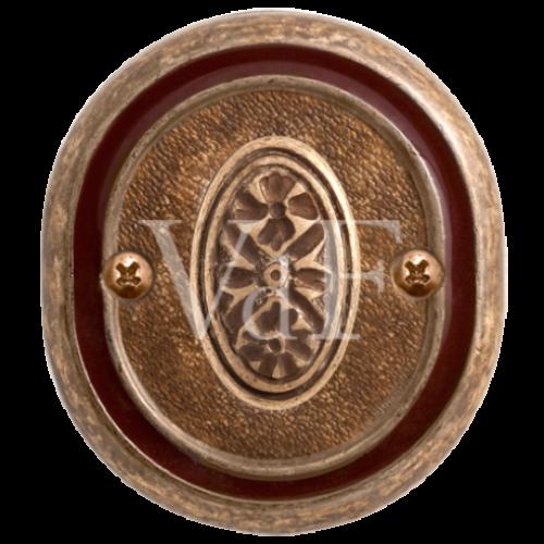 Завертка к ручке Беладжио, BK 70 бронза состаренная с эмалью