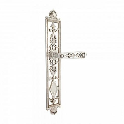 Дверная ручка на планке РДП-05 (покрытие серебром)