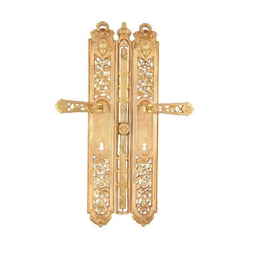 Дверная ручка РДП-01 Эксклюзив (покрытие золотом 24К)