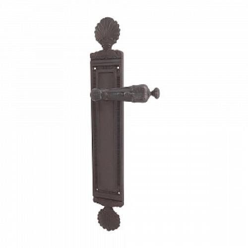 Дверная ручка РДП-25 (латунь с патиной темной)
