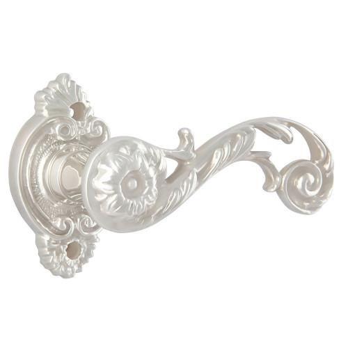 Дверная ручка на розетке РДР-20 (Покрытие серебром)