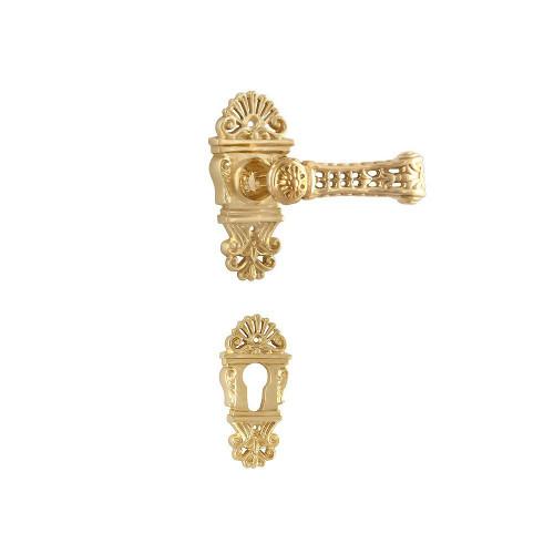 Дверная ручка на розетке РДР-23 (латунь)