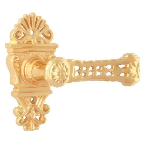 Дверная ручка на розетке РДР-23 (Покрытие золотом 24К)