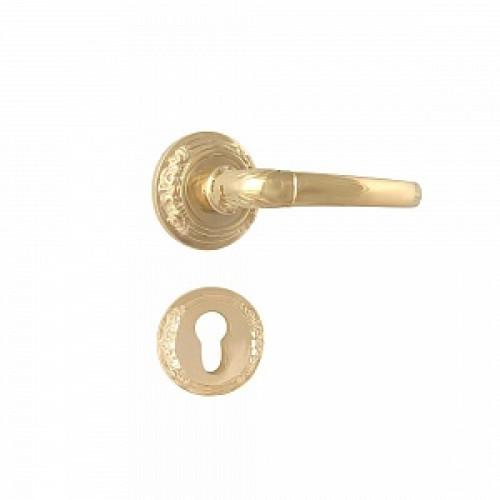 Дверная ручка на розетке РДР-36 (латунь)