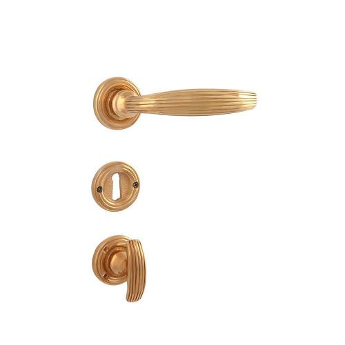 Дверная ручка на розетке РДР-59 (латунь)