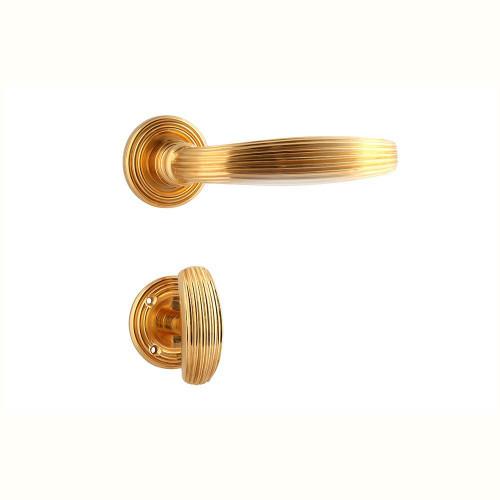 Дверная ручка на розетке РДР-59 (покрытие золотом 24К)