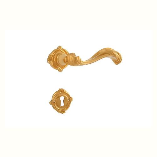 Дверная ручка на розетке РДР-62 (покрытие золотом 24 К)