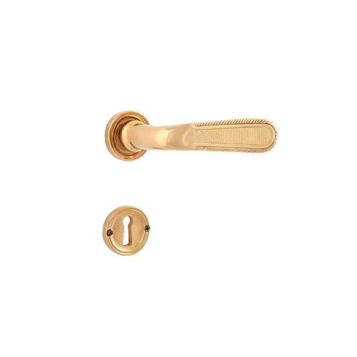 Дверная ручка на розетке РДР-64 (покрытие золотом 24 К)
