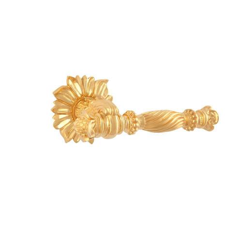 Дверная ручка на розетке РДР-66 (покрытие золотом 24 К)