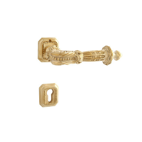 Дверная ручка на розетке РДР- 15 (латунь)