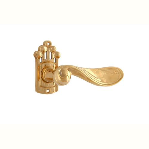 Дверная ручка на розетке РДР- 17 (покрытие золотом)