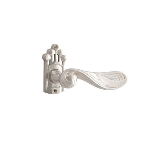 Дверная ручка на розетке РДР- 17 (покрытие серебром)