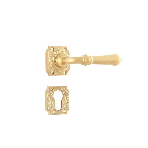 Дверная ручка на розетке РДР-24 (латунь)