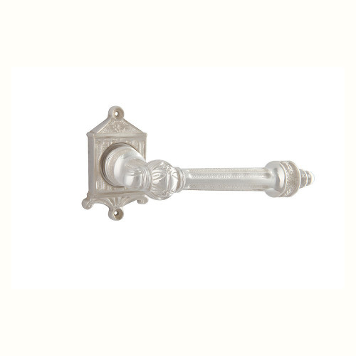 Дверная ручка на розетке РДР-28 (покрытие серебром)