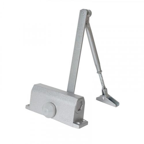 Доводчик дверной (TD-80) с фиксацией 90 серебро