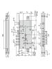 Электромеханический замок Cisa 17986.48.0 (два в одном)