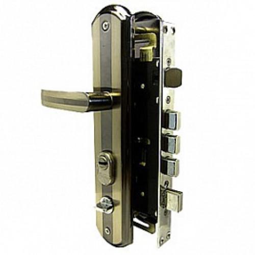 216-1-А-L Комплект врезного замка б/ц лев. для стальн.дв.